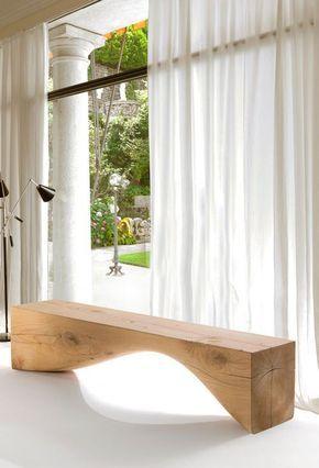 минималистский деревянная скамья