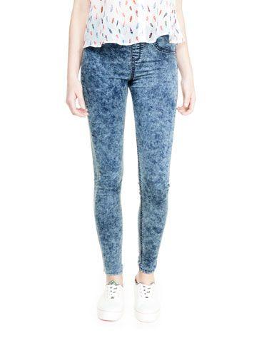 Jeans BSK lavaggio acid wash