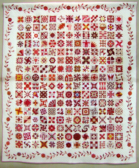 Red Quilt Filled with Love, 2012 Tokyo Intl Great Quilt Festival.  Photo by Be*mused, via Flickr