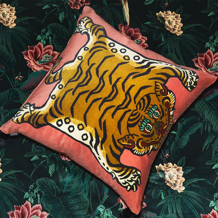 Statement cushions in sumptuous British velvets offer the quickest route to introducing House of Hackney's luxe aesthetic to your home.