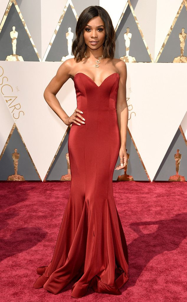 Oscars 2016: Zuri Hall attends the awards ceremony on the red carpet.