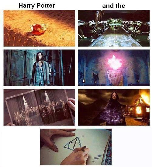 Sorcerers Stone, Chamber of Secrets, Prisoner of Azkaban, Goblet of Fire, Order of the Phoenix, Half Blood Prince, Deathly Hallows.