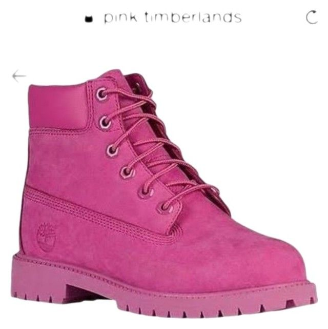 """""""Pink timberlands"""" by mthom053 on Polyvore"""