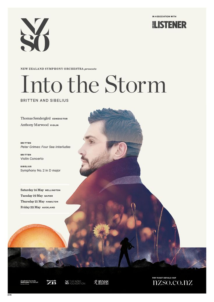 Into the Storm 16 - 22 May 2015. Taste the salt of a bitterly cold ocean voyage with Benjamin Britten's Four Sea Interludes from his masterpiece opera, Peter Grimes. Then lionhearted British violin star Anthony Marwood takes on Britten's brilliant and imaginative Violin Concerto, which pushes the violin to the extremes of its power. We end our journey among the magnificent fjords and craggy landscapes of Finland with Jean Sibelius's Symphony No. 2…
