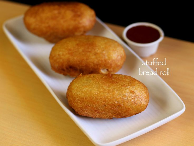 stuffed potato bread roll recipe, how to make bread roll with step by step photo/video. ideal kids snack, or a starters, appetizer before main course meal.