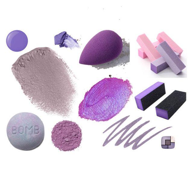 Purple by aliceniceworld on Polyvore featuring uroda, Obsessive Compulsive Cosmetics, beautyblender, Illamasqua, NARS Cosmetics, Londontown and Yves Saint Laurent