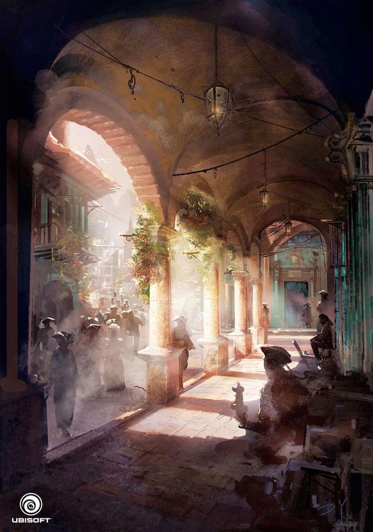 Assassin's Creed IV Black Flag, por Donglu Yu | THECAB - The Concept Art Blog