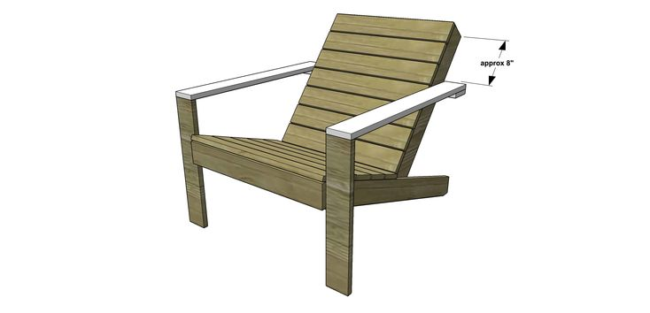 Arm Rest for Free DIY Furniture Plans // How to Build an Outdoor Modern Adirondack Chair