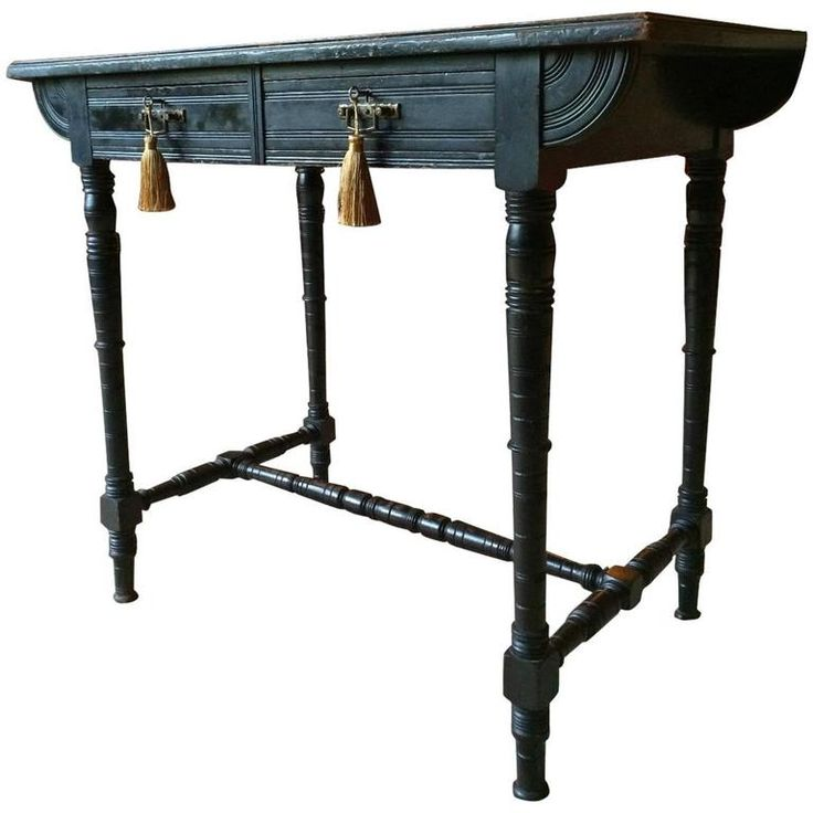 Antique Lady's Desk Writing Table Ebonized Desk Victorian, 19th Century | From a unique collection of antique and modern desks at https://www.1stdibs.com/furniture/storage-case-pieces/desks/
