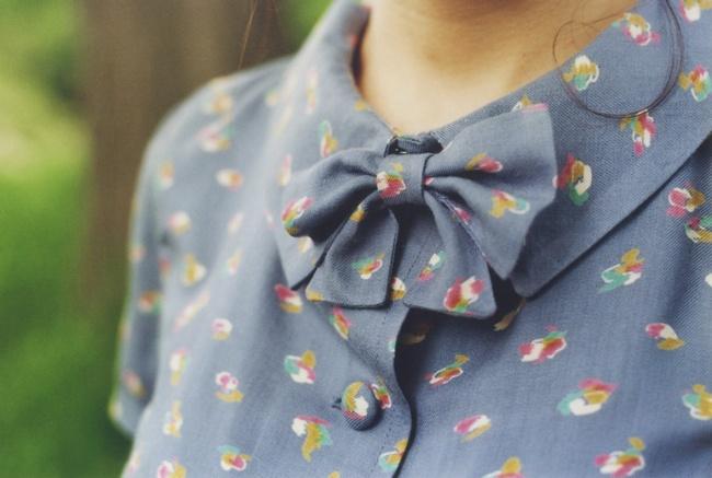 Rosaspina Vintage S/S 2013 // 'Torino' blouse in Watercolor // http://rosaspinavintage.bigcartel.com