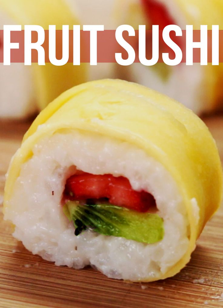How To Make Fruit Sushi At Home... So Easy And Vegan-Friendly!