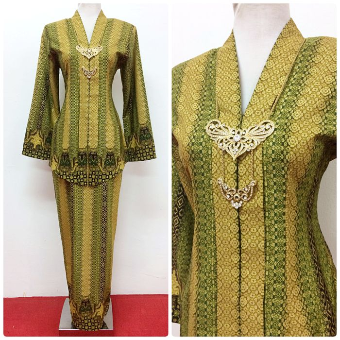 "Kebaya Emelda in songket motif, available in M size (best for bust 36""). Shop online at www.empireofelegance.com.my"