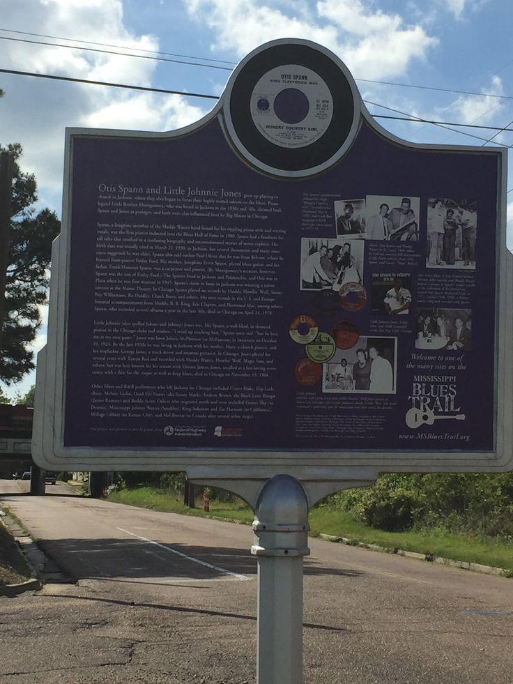 Otis Spann & Little Johnnie Jones- MS Blues Trail marker in Jackson, MS