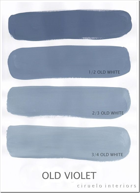 """Old Violet Excellent info from Ciruelo Interiors Blog; """"Annie Sloan Chalk Paint lovers: Here is my extended colours range"""" show how the colors can be mixed to achieve huge color range~"""