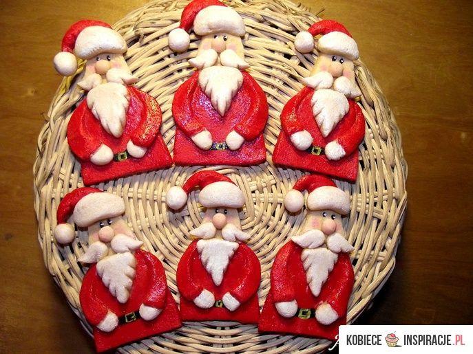 Salt dough santa Mikołaje z masy solnej - Kobieceinspiracje.pl
