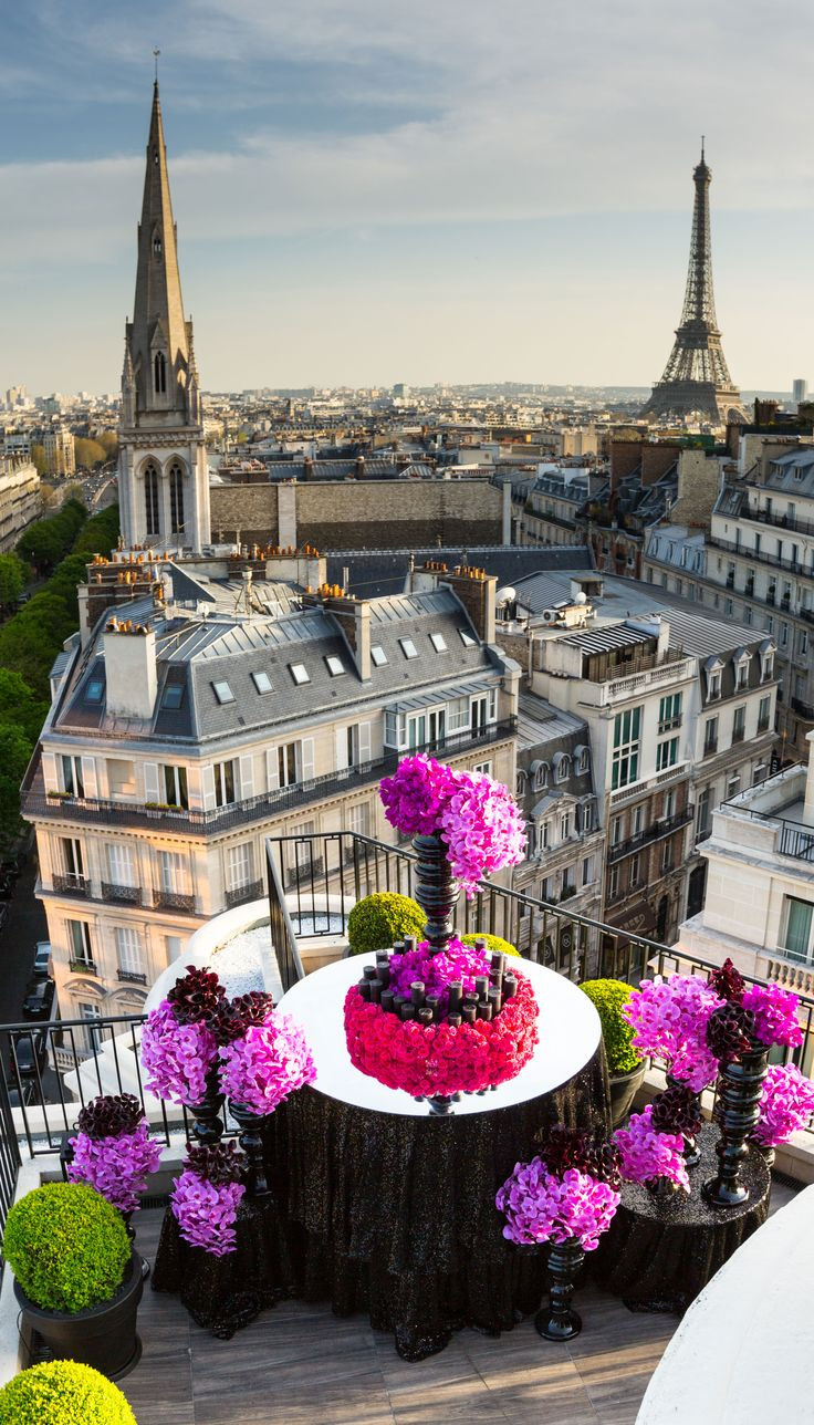 Paris view from ~ the Four Seasons Hotel Balcony in France