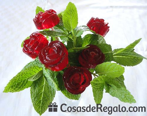 Rosas de chocolate y caramelo