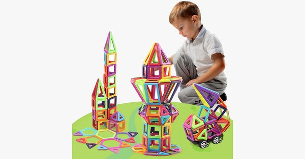 Hurry, before it is gone! Limited time remaining!99% reviewers recommend this product100% Money Back Guarantee Highlights EASY LEARN to PLAY:Several different shapes, rainbow colors build eye catching designs that appeal to boys and girls ofages over 3-year-old, easy to recognize, and its magnetism makes it very easy to be connected with other shapes. Make You Kids Smarter:Objects construction encourage children to build their spatial relationships and mental rotateimagination ability…