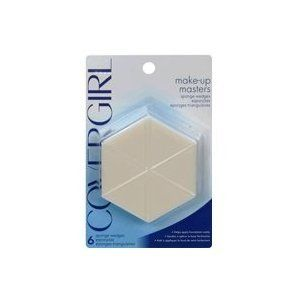 CoverGirl Makeup Masters Sponge Wedges, 6 ct, 2 pk by COVERGIRL. $5.58. Makeup Masters Sponge Wedges help foundation go on smoothly and evenly -exactly where you want it.; What the pros use for perfect application; Smooth, natural application; Safe for sensitive skin