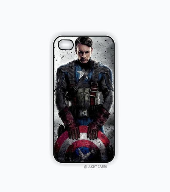 Captain America Iphone 5 case, Iphone 5s case, Hard Plastic Case