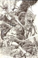 Conan & Red Sonja Commission by Rudy D. Nebres Comic Art