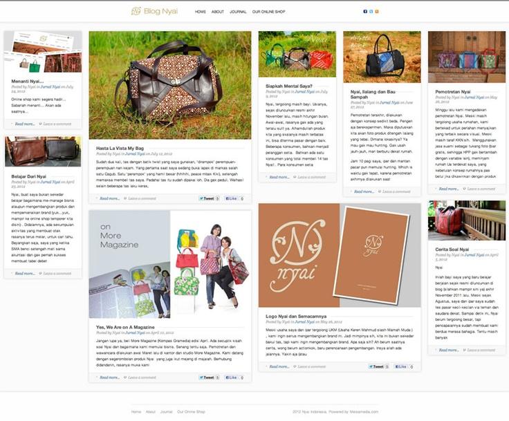 Ini dia blog Nyai Indonesia... Gak kalah mengikuti perkembangan style web... Ada yang menyebutnya Pinboard Style, Wall Style dan Brick Style.... :)