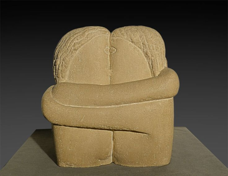 Constantin Brancusi, Le baiser, 1907-8, Stone. You can see it at the Art Museum in Craiova, Jean Mihail.