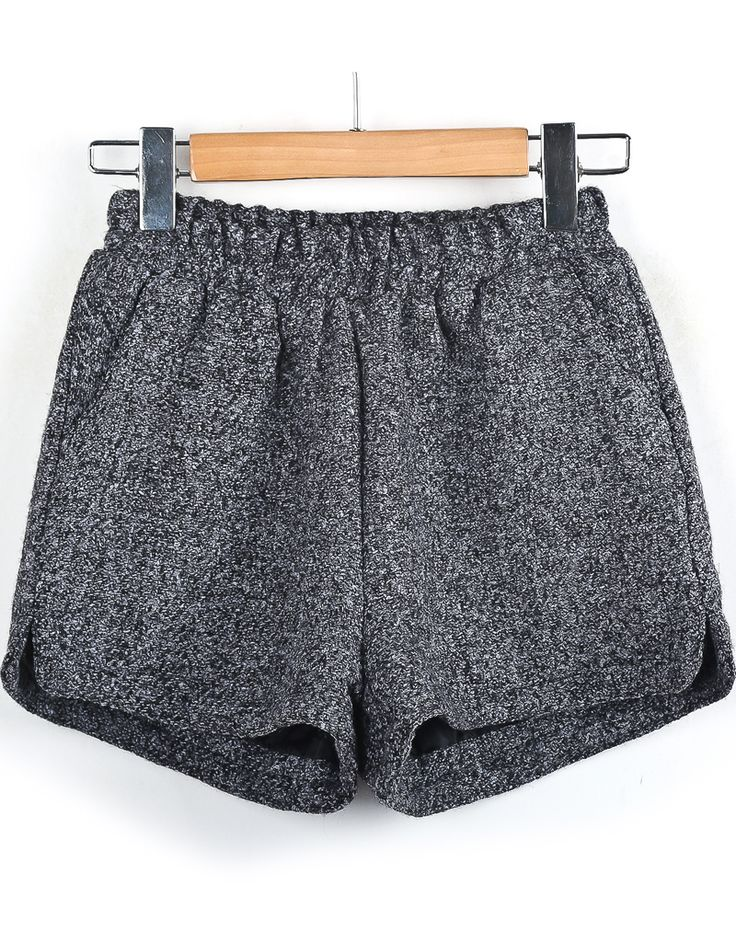 Grey Tweed Shorts