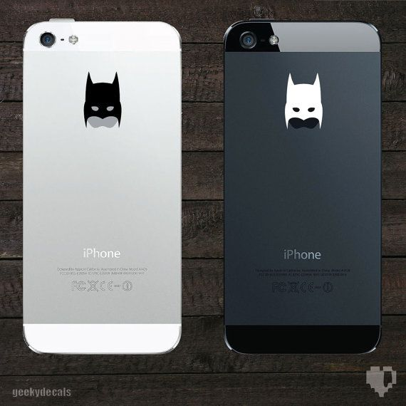 Batman inspired mask iPhone Decal / iPhone Sticker on Etsy, $3.00