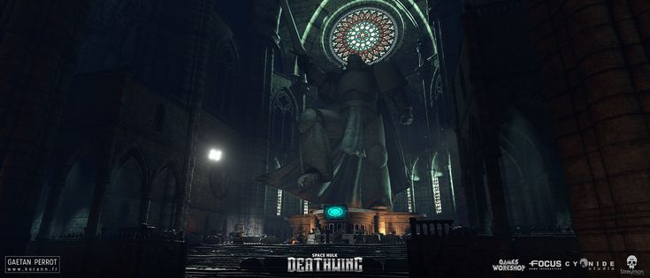 ArtStation - Space Hulk Deathwing - Black Templar Cathedral 02, Gaëtan Perrot