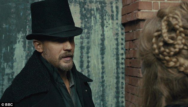Dark and brooding: Tom Hardy plays the black-hearted hero in new Saturday night TV must-se...