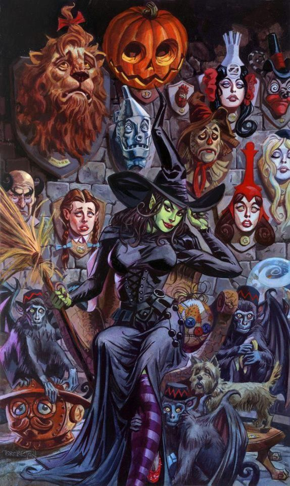 Wicked Witch's Trophy Hall by Dan Brereton