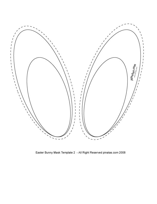 Создай открытку, шаблоны ушки зайчика