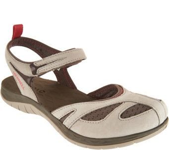 Merrell Waterproof Nubuck Leather Sandals - Siren Wrap Q2 - A288695