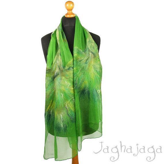 NEW Evening shawl wrap silk scarf handmade shawl nuno