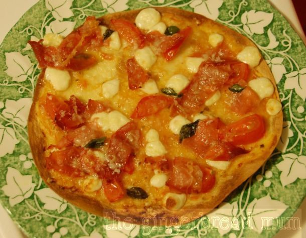 Super Quick Cheat's Pizza - get the kids to make their own.