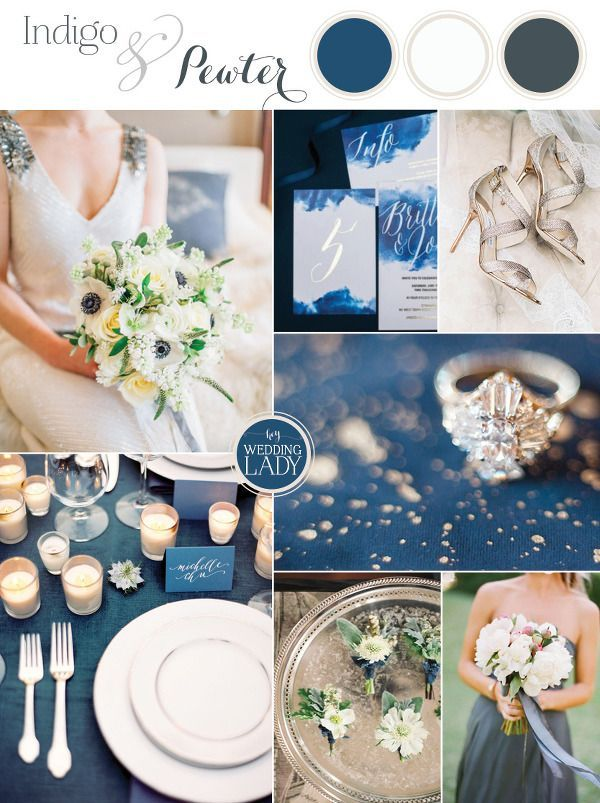 Indigo and Pewter – A Timeless Wedding Palette | Indigo ...