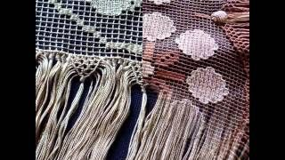 Ricamarte di emangir Lavori artigianali della scuola Pina Alberti RicamArte di Cefalù: macramè, tessitura, chiacchierino, filet, ricamo.
