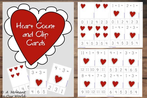 With Valentine's Day so close, I created these {FREE} Printable Heart Count and Clip Cards with a  valentine theme. This pack includes count and clip cards to the number 12 as well as some simple addition and subtraction clip cards. To download your {FREE} Copy of these Heart Count and Clip Cards, click on the …