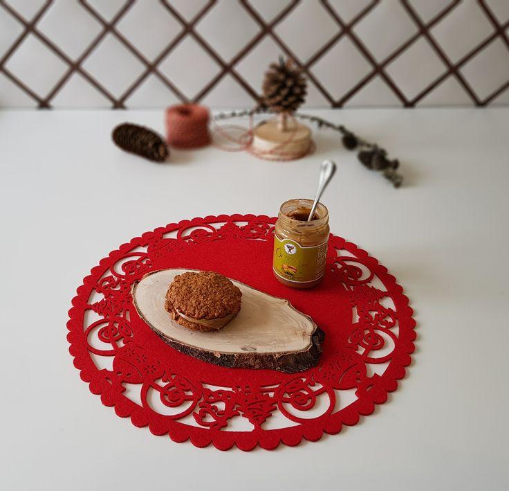 Cookies con fiocchi di avena noci pecan e cioccolato fondente  + crema al pistacchio BABBI