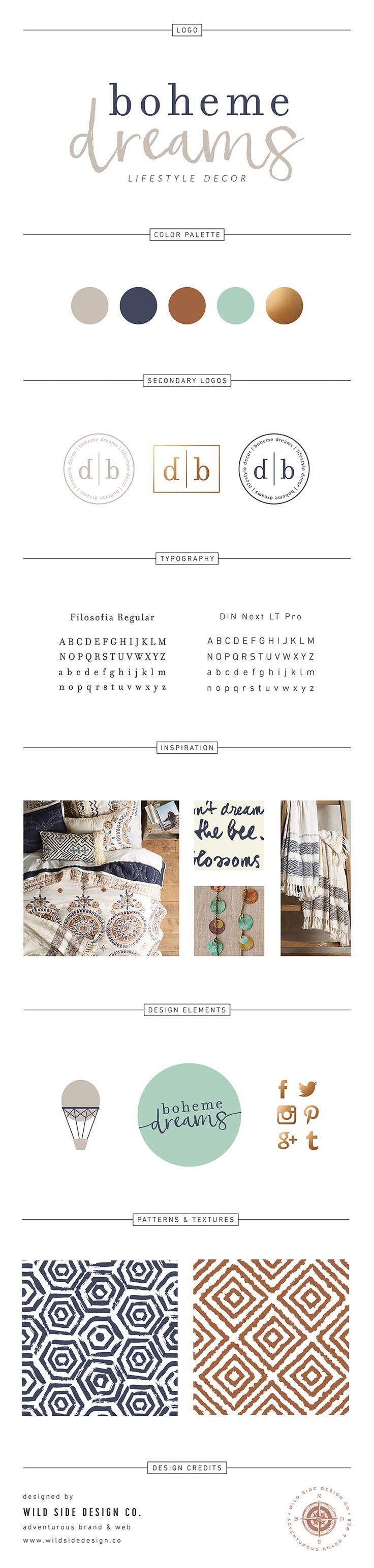 Brand Launch :: Brand Style Board :: Boho Home Decor Branding :: Boheme Dreams…