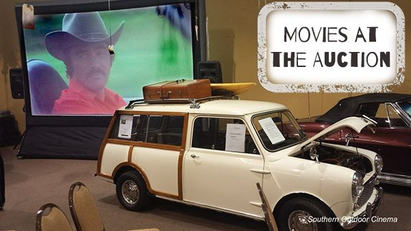 Movie Night at the Auction Keeps Guests Entertained Between Auctions by Southern Outdoor Cinema