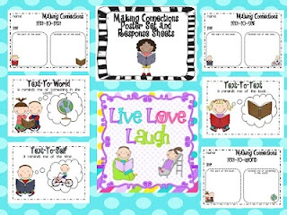FREE making reading connections posters and printables. :)