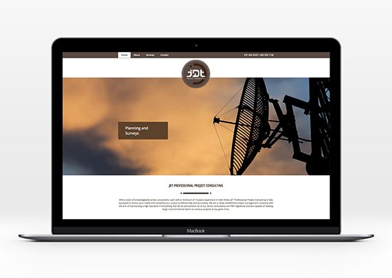 Website for JDT by Rubio Communications