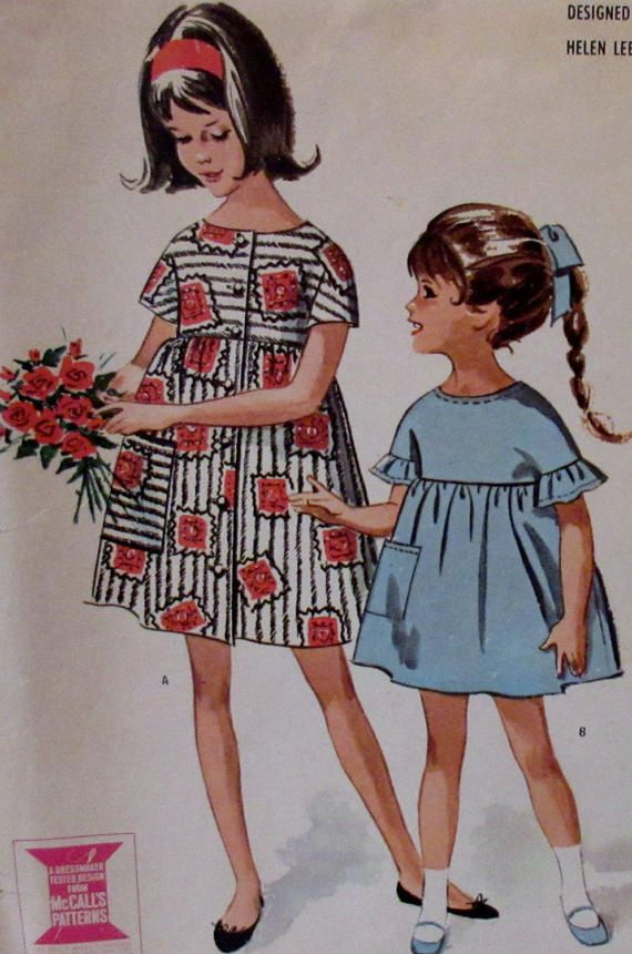 Vintage McCall's 1963 by Designer Helen Lee  Girls'