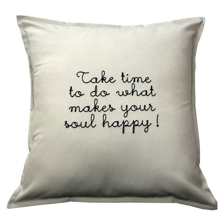 Sometimes you need to put yourself first and do what makes you happy. This inspirational scatter cushion could be in your home - http://bit.ly/1TS3WLK #handmade #decor