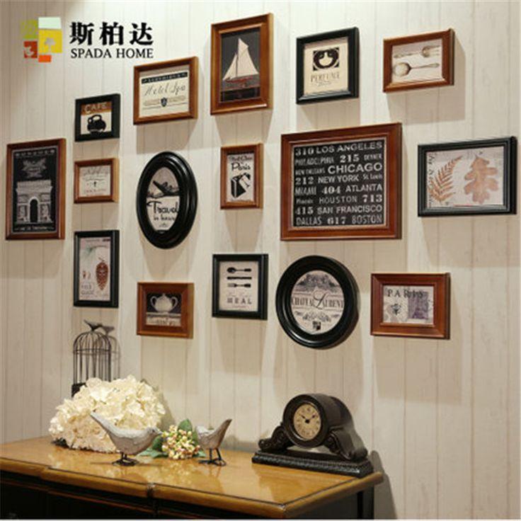 cheap photo frame set photo frame combinazione cornice in legno set cerimonia nuziale di trasporto libero