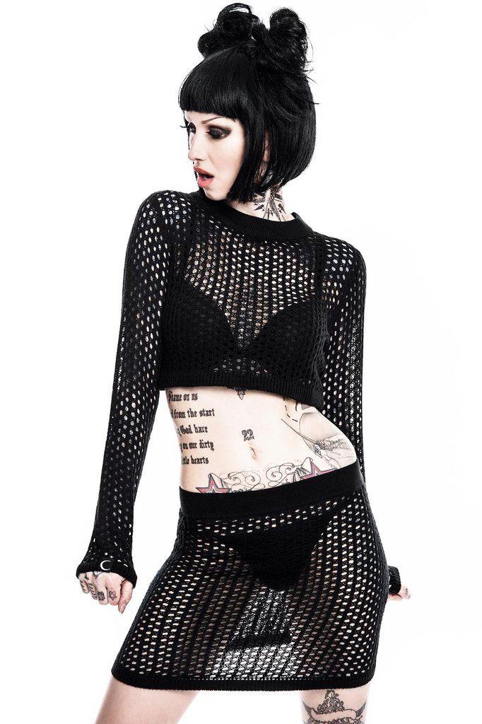 Cinder Nikky Knit Set [B] - Killstar clothing.