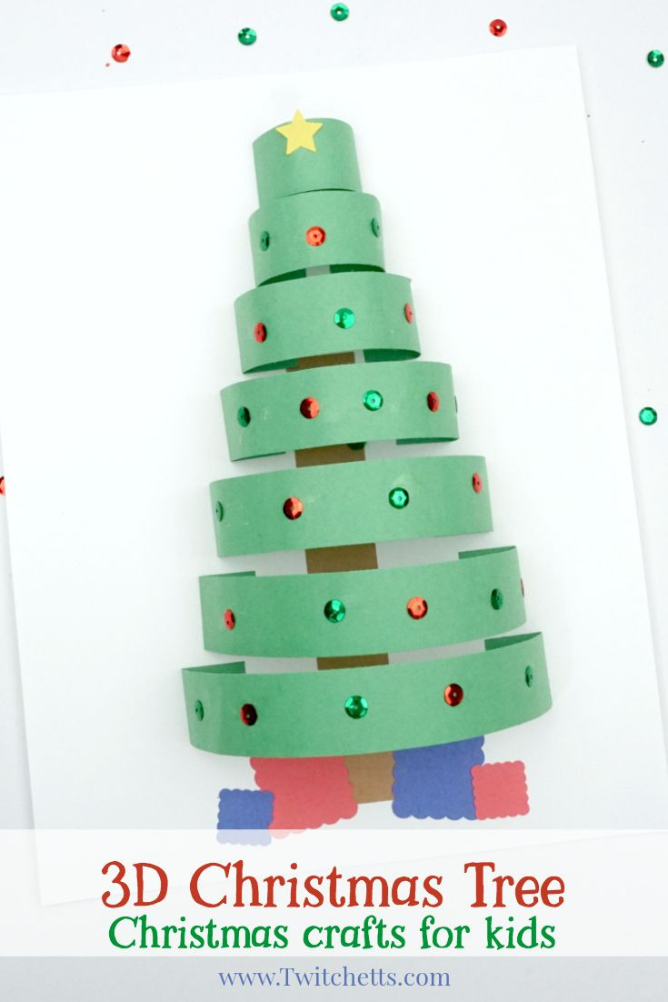 How To Make A Fun 3d Paper Christmas Tree Craft With Construction Paper Twitchetts Construction Paper Crafts Christmas Tree Crafts Christmas Tree Paper Craft
