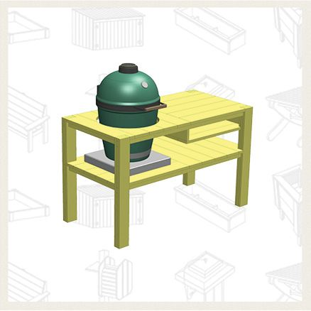 Build a Big Green Egg Table - Free Project Plan: McCoy's Building Supply is proud to carry YellaWood.  #woodworking #diyproject #lumber